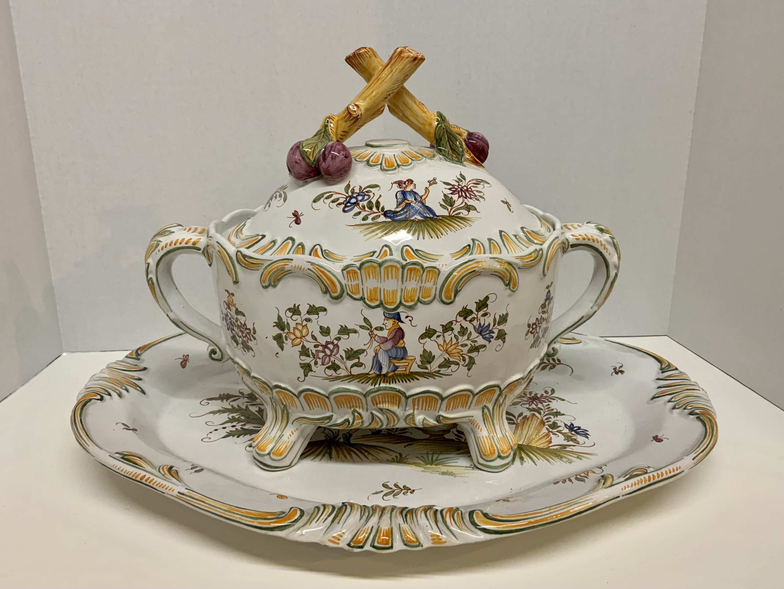Antique French Platter & Tureen