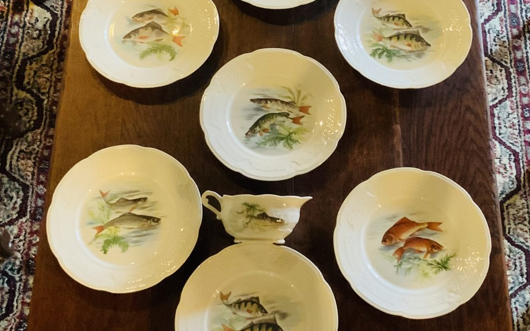 French Fish Plate Set