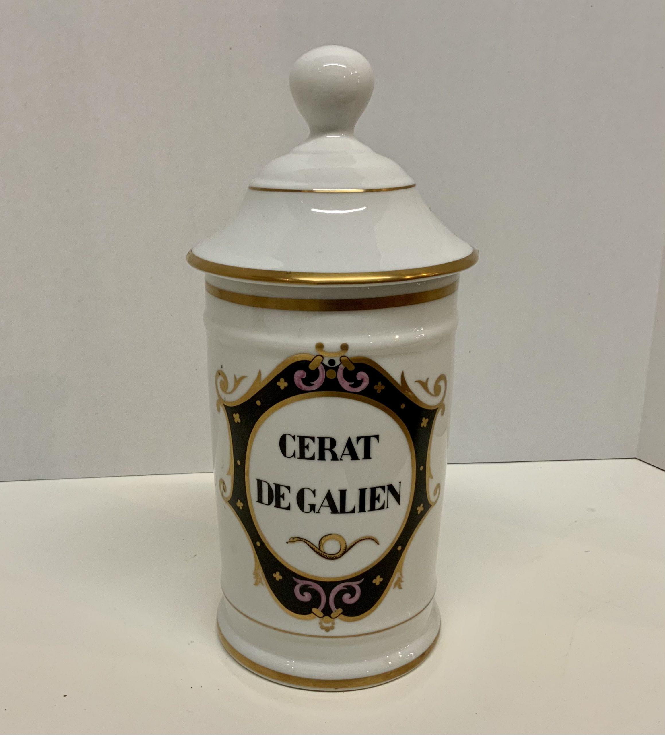 Limoges Apothocary Jar