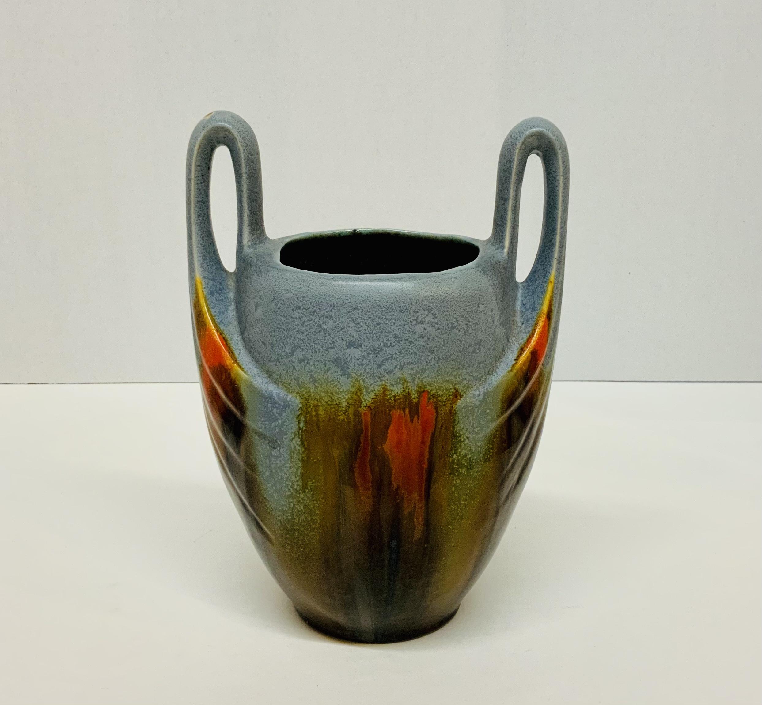 Art Deco Majolica Vase